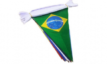 32 Nation Triangular Flag Bunting - 10m Long - 32 Flags